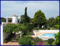 Villa, gardens and pool