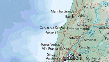 Silver Coast Costa Da Prata Near Lisbon Portugal - Portugal map silver coast